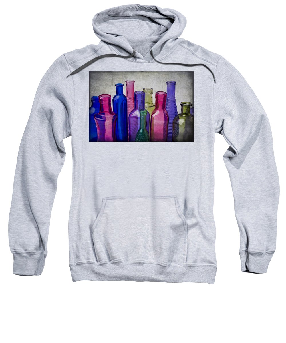Colorful Sweatshirt featuring the photograph Colorful Group Of Bottles by Garry Gay