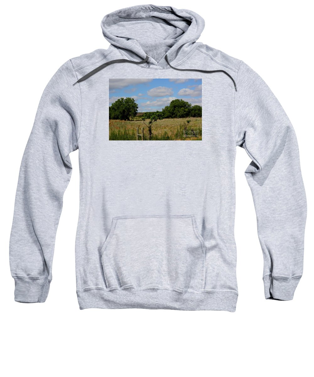 Sky Sweatshirt featuring the photograph Colorful Kansas Country Pasture by Robert D Brozek