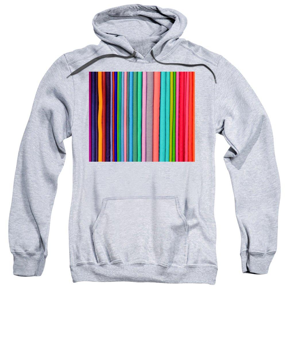 Textile Sweatshirt featuring the photograph Colorful Pashminas by Dutourdumonde Photography