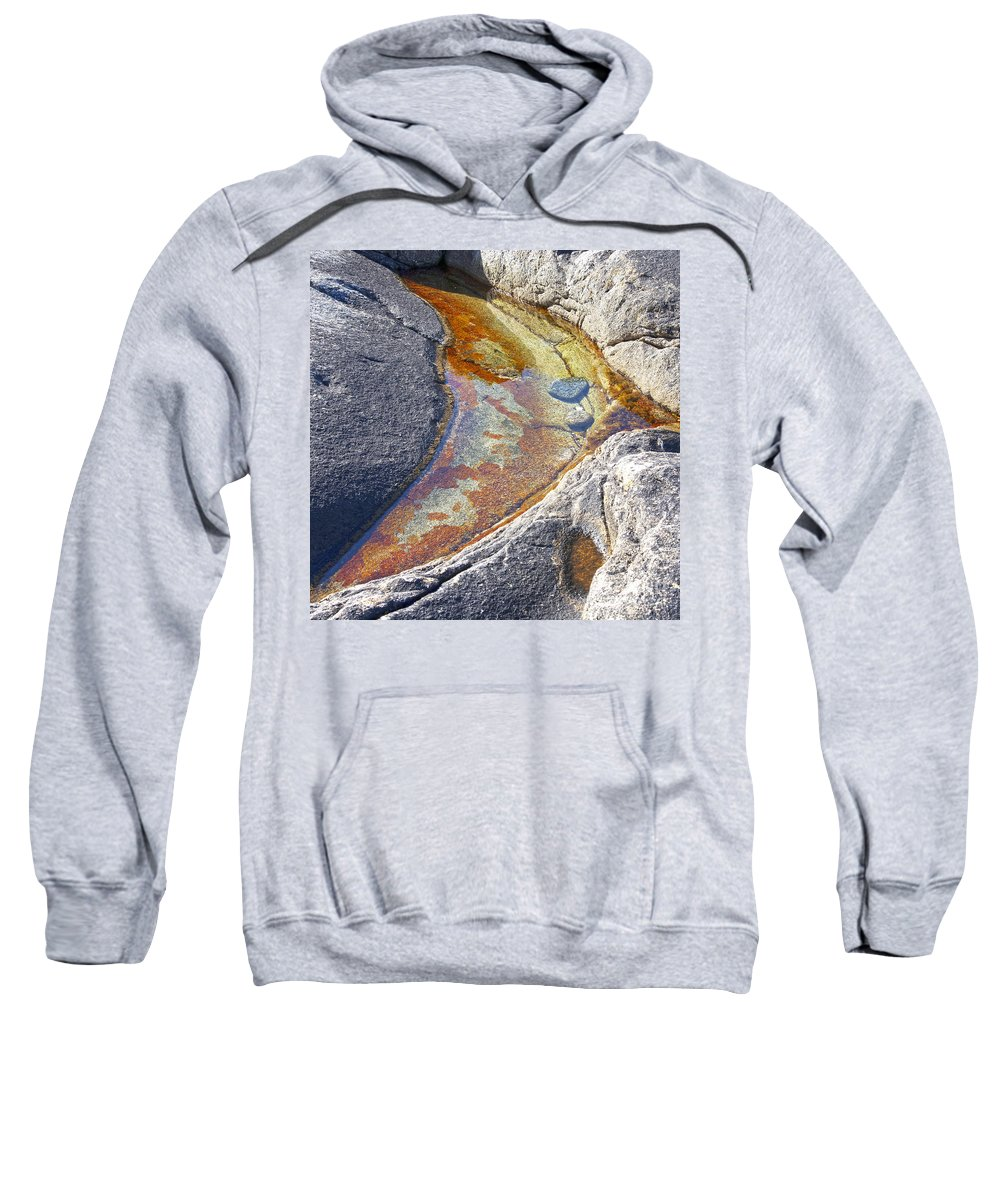 Lichen Sweatshirt featuring the photograph Colors On Rock by Heiko Koehrer-Wagner