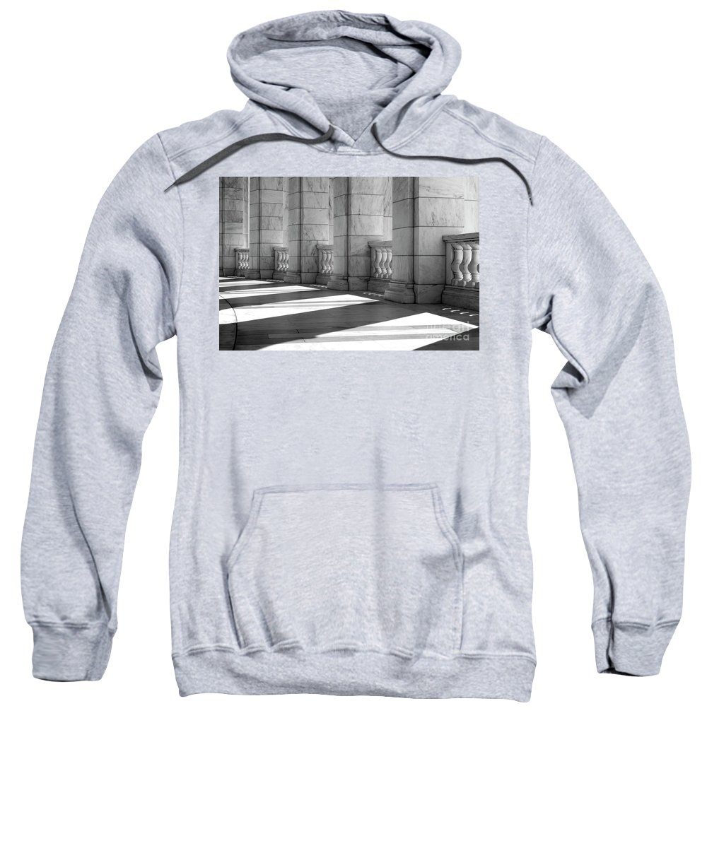 Arlington Sweatshirt featuring the photograph Columns And Shadows by Paul W Faust - Impressions of Light