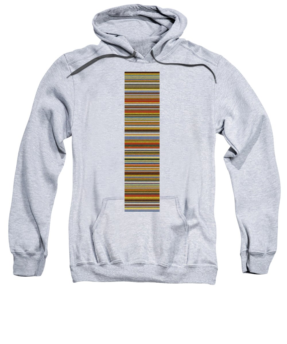 Textured Sweatshirt featuring the painting Comfortable Stripes Vll by Michelle Calkins
