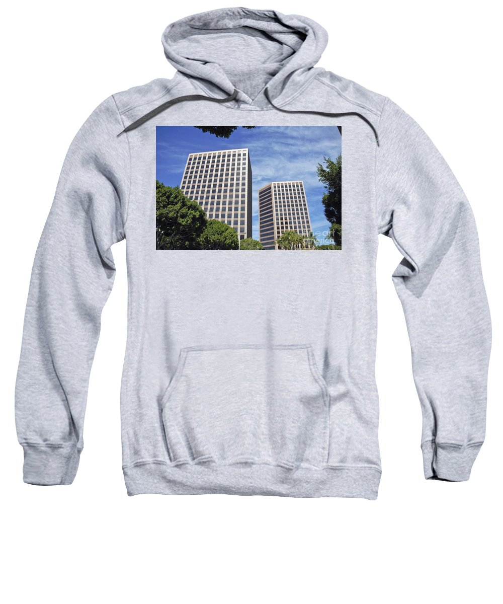 Commercial Sweatshirt featuring the photograph Commercial Office Building by David Zanzinger