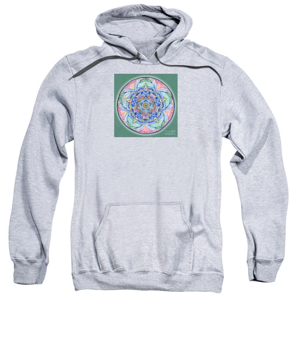 Mandala Art Sweatshirt featuring the painting Compassion Mandala by Jo Thomas Blaine