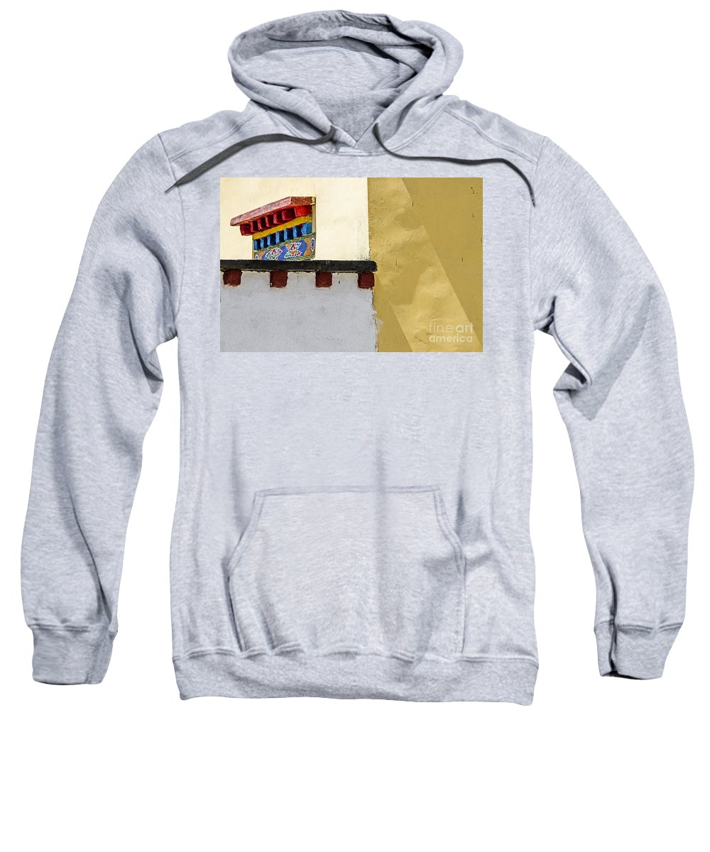 Tibetan Sweatshirt featuring the photograph Composition 2 by Hitendra SINKAR