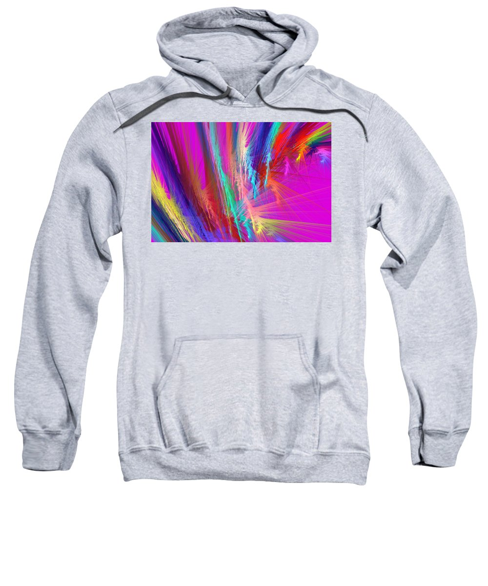 Pink Sweatshirt featuring the photograph Computer Generated Pink Abstract Fractal by Keith Webber Jr