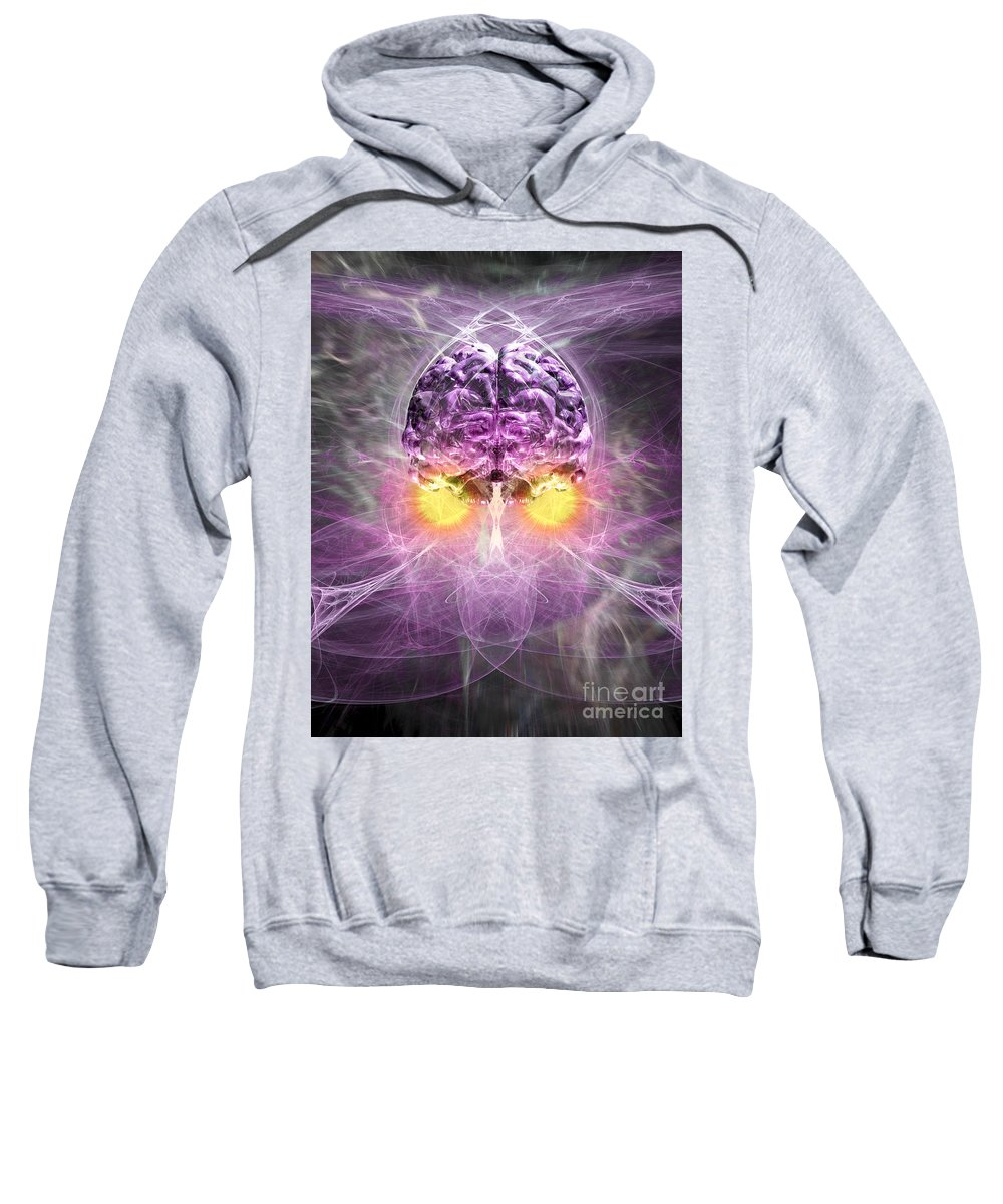 Anima Sweatshirt featuring the digital art Consciousness 1 by Russell Kightley