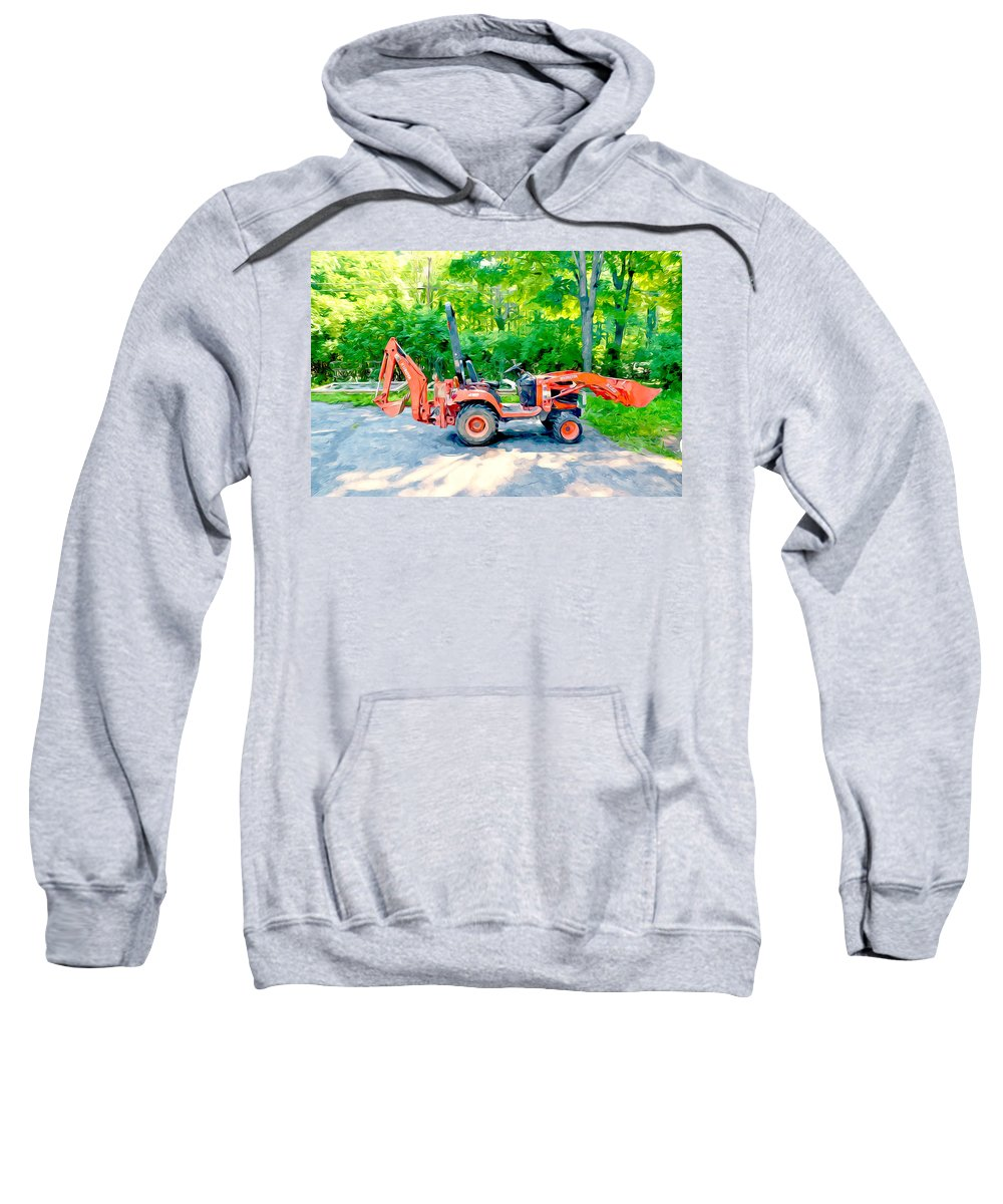 Construction Machinery Equipment Sweatshirt featuring the painting Construction Machinery Equipment 1 by Jeelan Clark