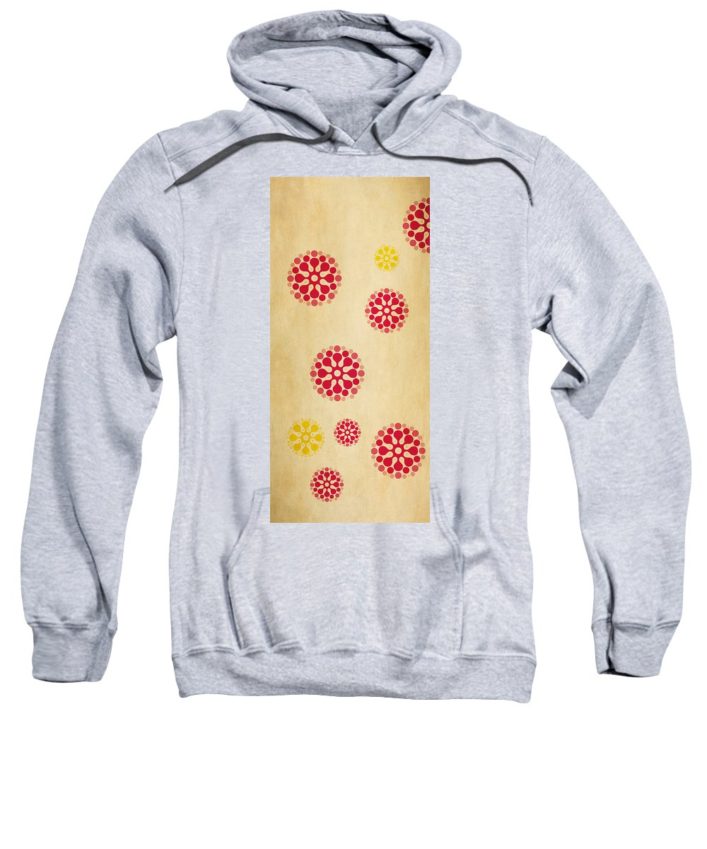 Contemporary Sweatshirt featuring the mixed media Contemporary Dandelions 1 Part 1 Of 3 by Angelina Vick