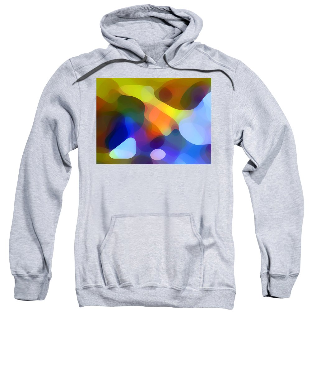 Bold Sweatshirt featuring the painting Cool Dappled Light by Amy Vangsgard