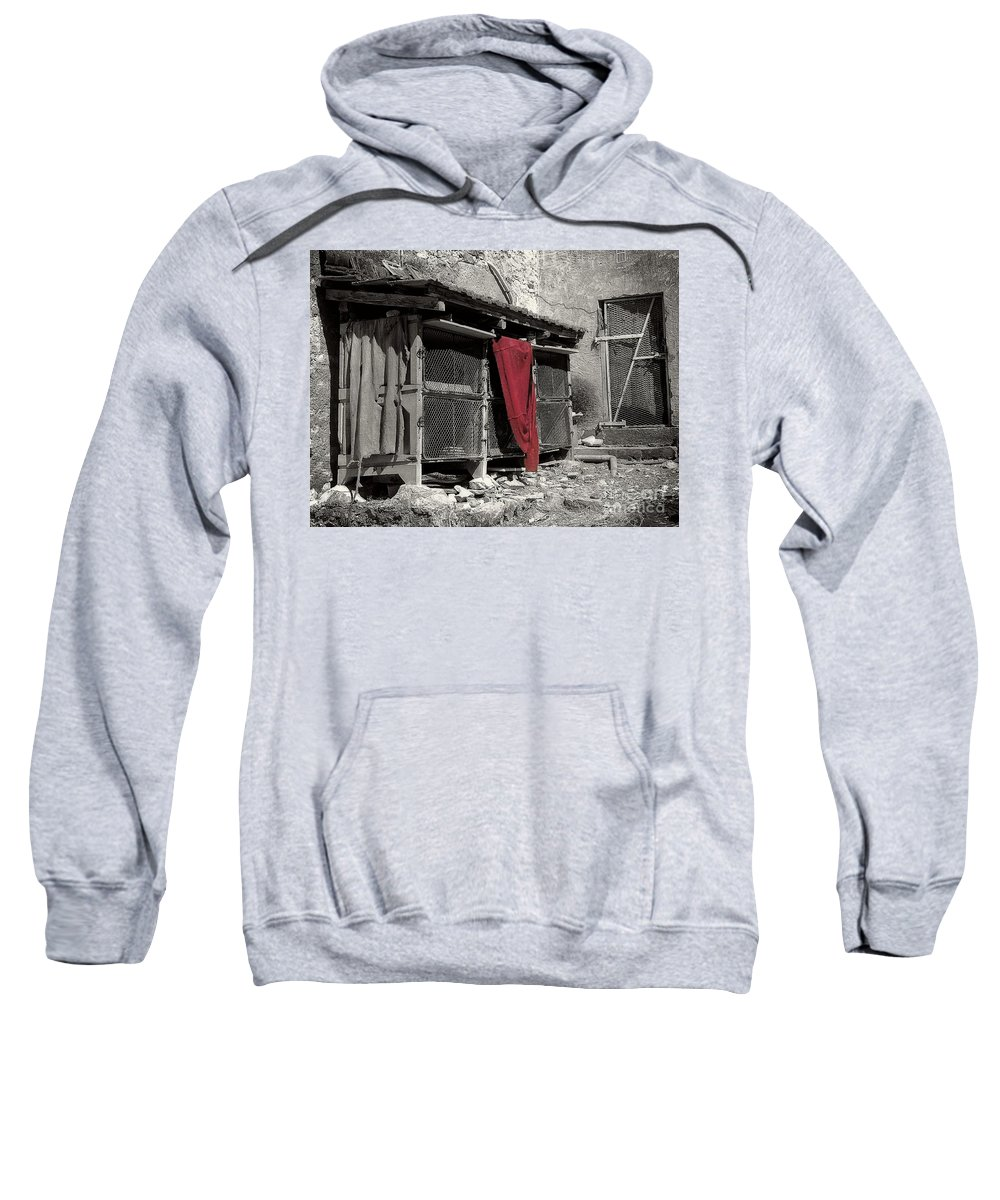 Abstract Sweatshirt featuring the photograph Cooped Up by Lauren Leigh Hunter Fine Art Photography