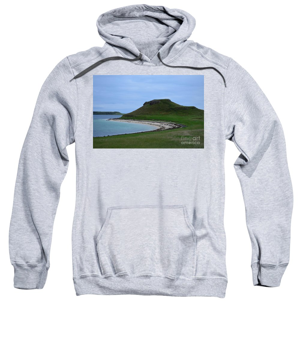 Coral Beach Sweatshirt featuring the photograph Coral Beach On The Isle Of Skye by DejaVu Designs