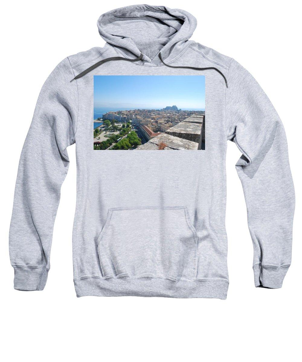 Corfu City Sweatshirt featuring the photograph Corfu City by George Katechis