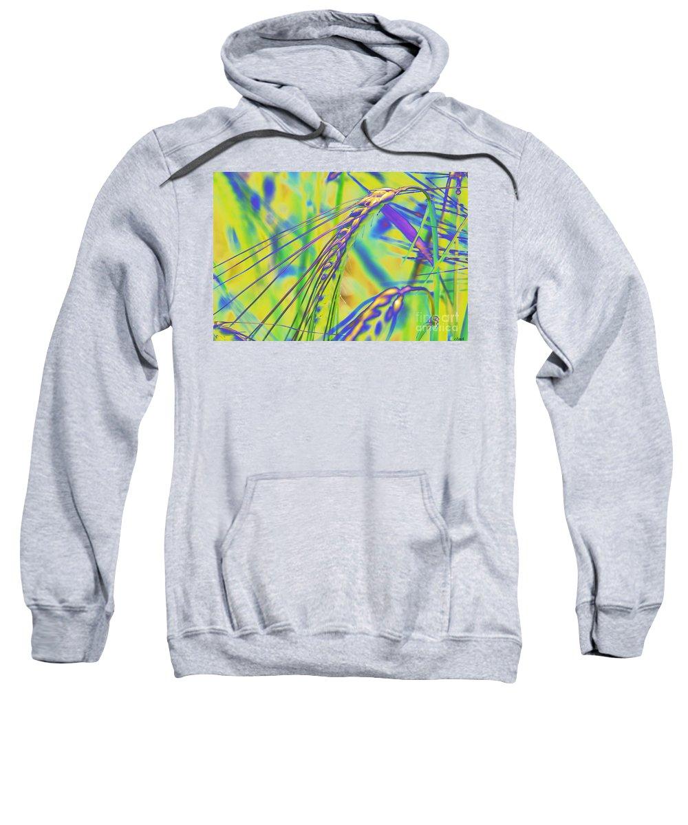 Corn Sweatshirt featuring the digital art Corn by Carol Lynch