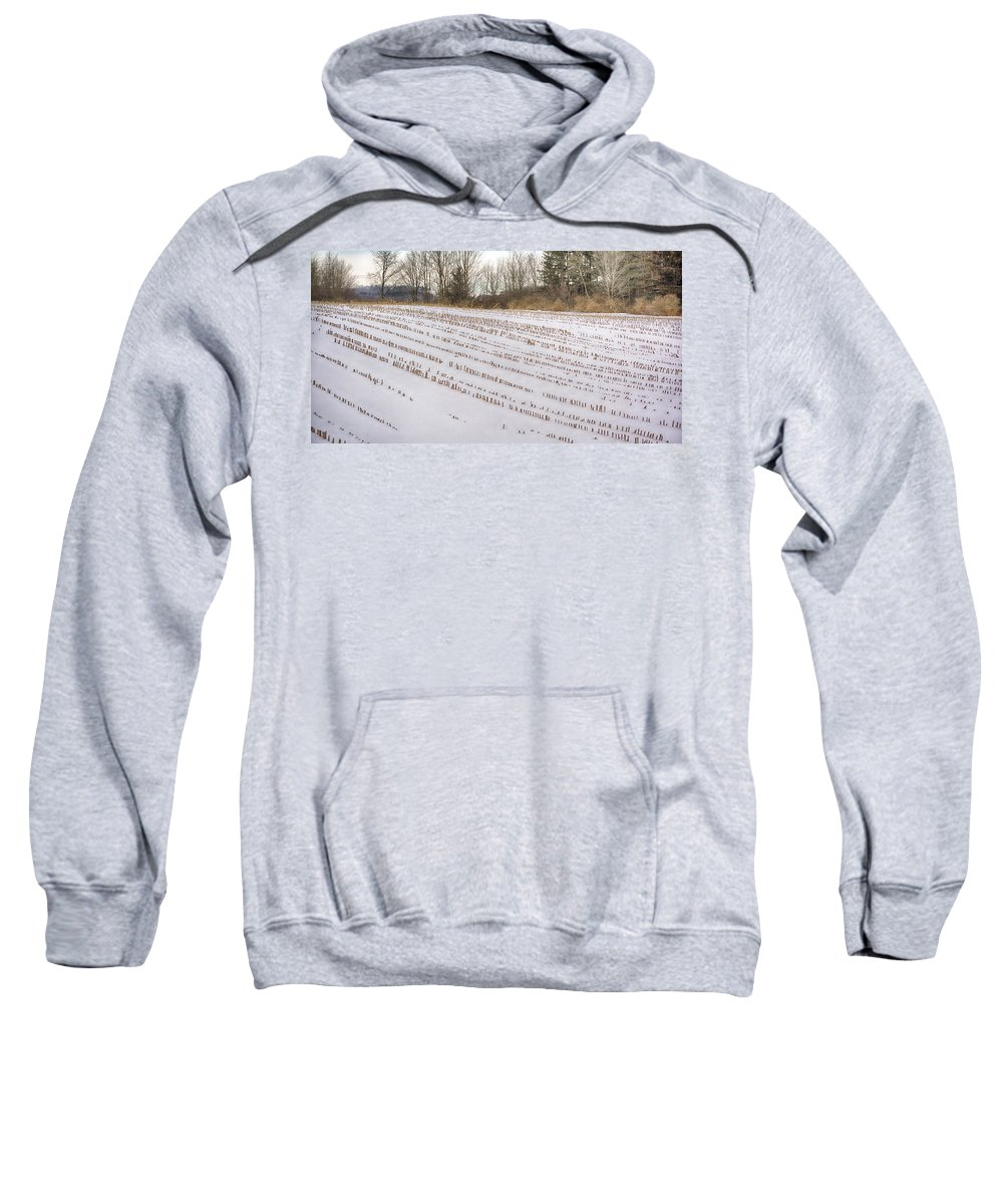 Guy Whiteley Photography Sweatshirt featuring the photograph Corn Code by Guy Whiteley