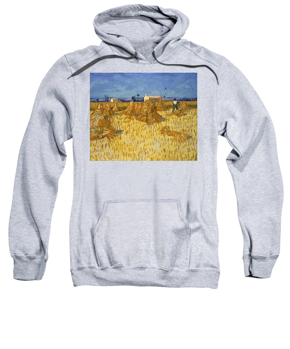 Corn Harvest In Provence Sweatshirt featuring the digital art Corn Harvest In Provence by Georgia Fowler