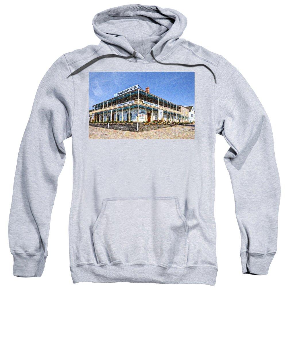 Cosmopolitan Hotel Sweatshirt featuring the digital art Cosmopolitan Hotel Old Town San Diego Usa by Liz Leyden