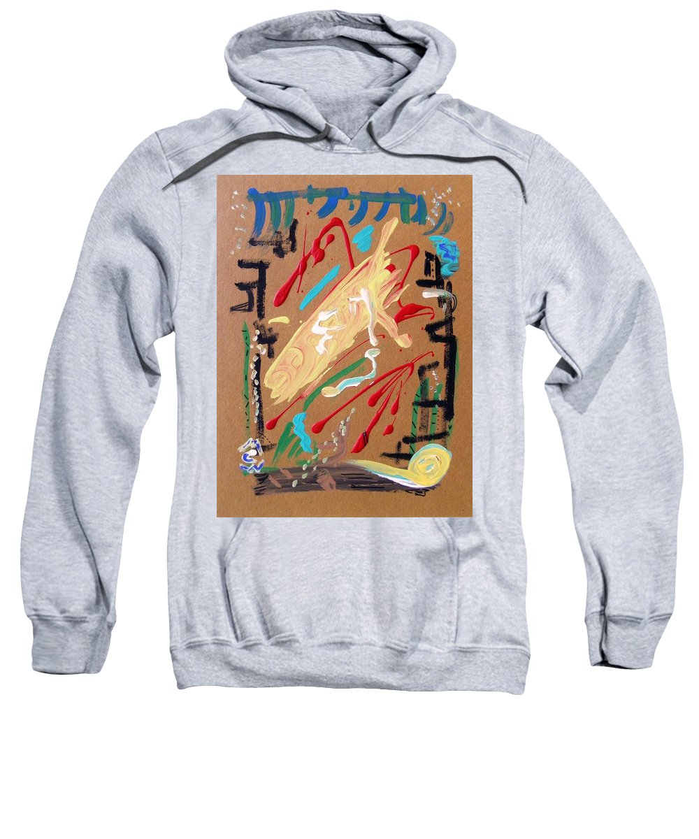 Abstract Sweatshirt featuring the painting Cosmopolitan by Mary Carol Williams