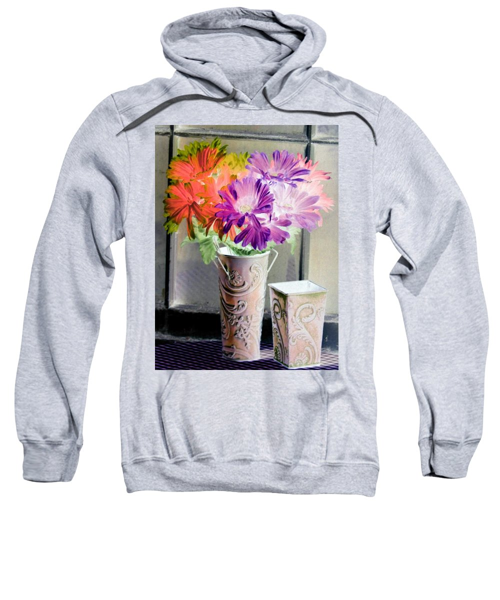 Flower Sweatshirt featuring the photograph Country Comfort - Photopower 493 by Pamela Critchlow