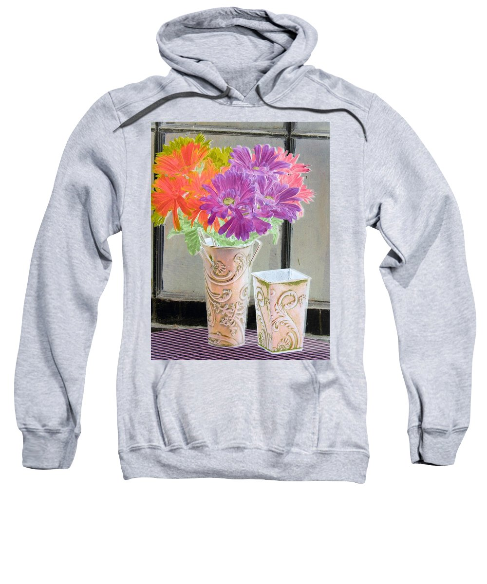 Flower Sweatshirt featuring the photograph Country Comfort - Photopower 494 by Pamela Critchlow