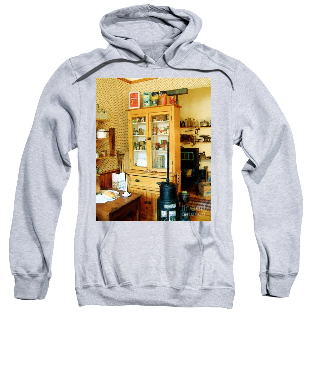 Antiques Sweatshirt featuring the painting Country Kitchen Sunshine IIi by RC DeWinter