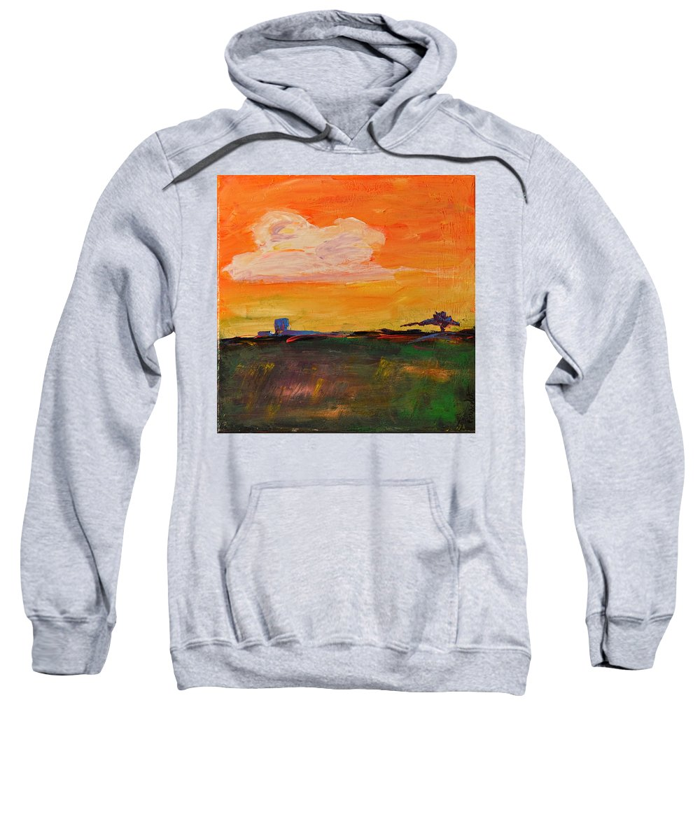 Wright Sweatshirt featuring the painting Country Twilight by Paulette B Wright