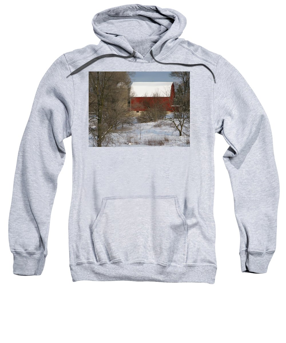 Winter Sweatshirt featuring the photograph Country Winter by Ann Horn