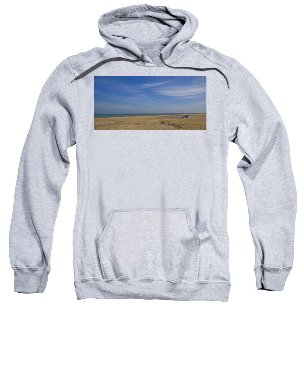 Sweatshirt featuring the photograph Couple On Beach by Patrick Warneka