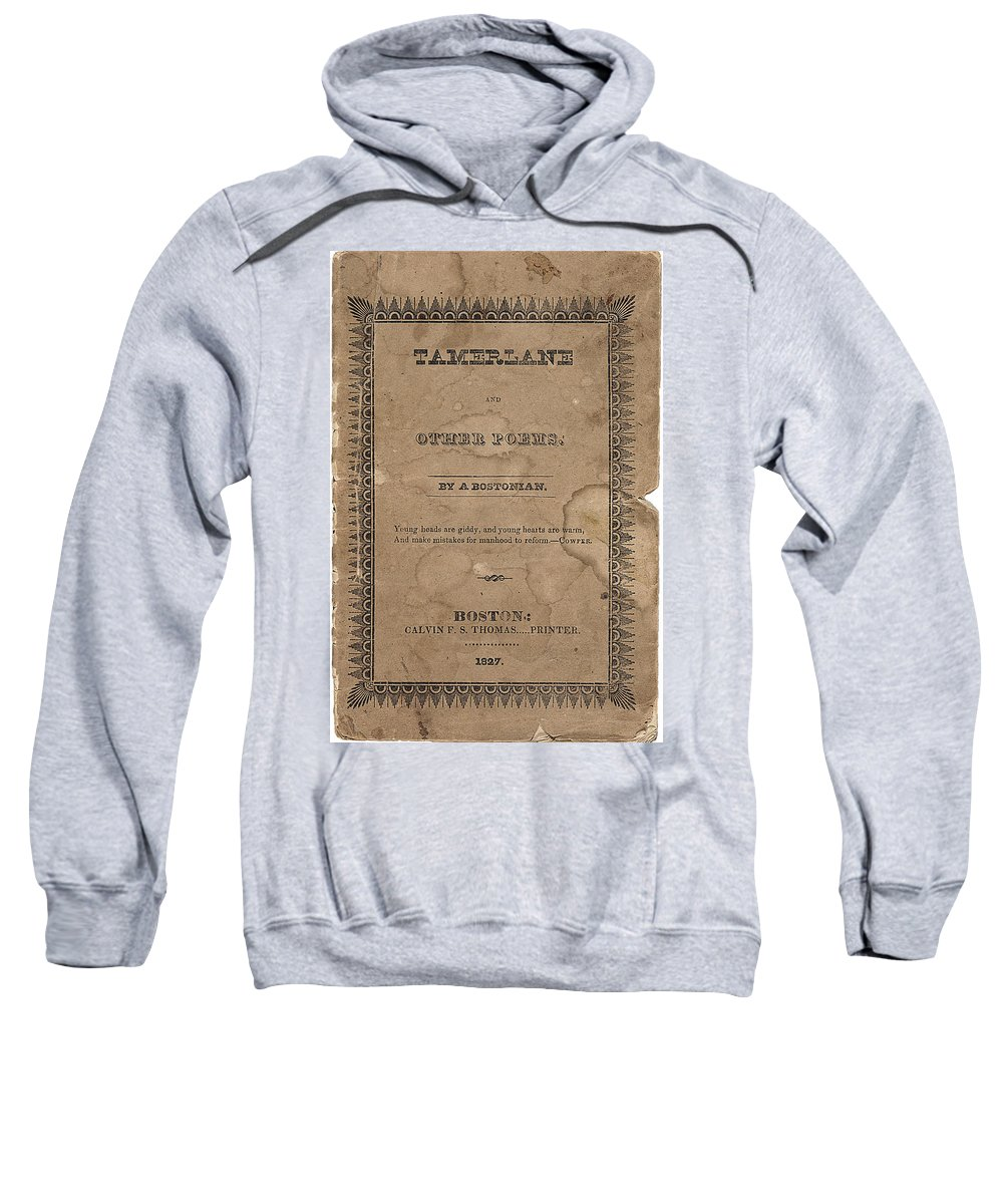 Edgar Sweatshirt featuring the digital art Cover Of Tamerlane by Philip Ralley