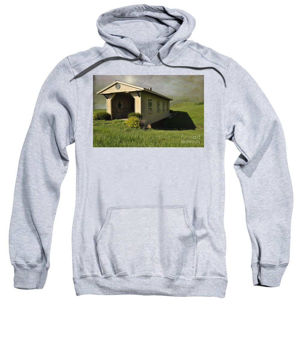 Covered Bridge Sweatshirt featuring the photograph Covered Bridge by Liane Wright