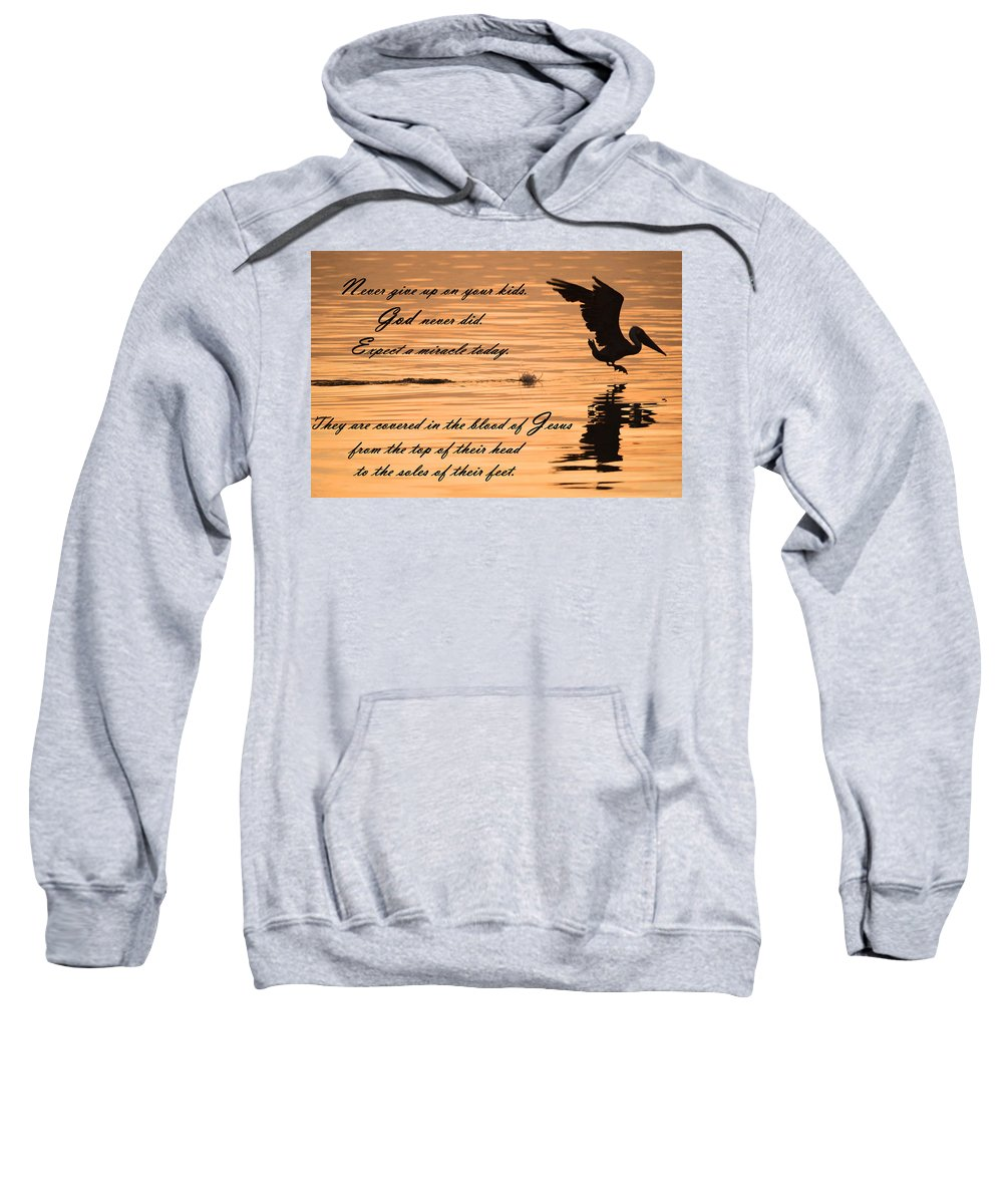 Scripture Sweatshirt featuring the photograph Covered In The Blood Of Jesus by Leticia Latocki