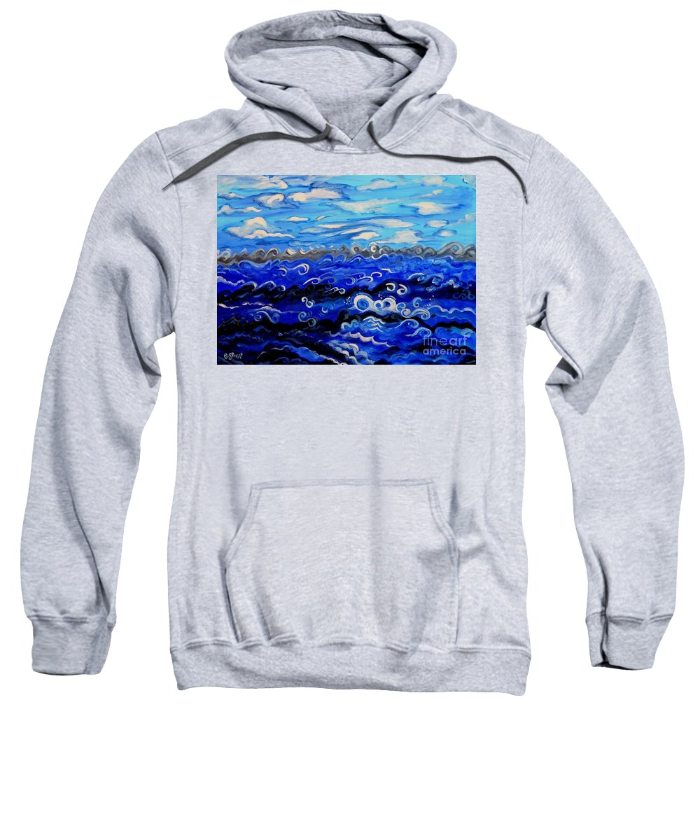 Creation Sweatshirt featuring the painting Creation Second Day Sky And Water by Caroline Street