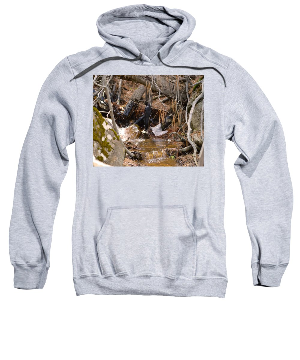 Nevada Sweatshirt featuring the photograph Creek 2 by Brent Dolliver