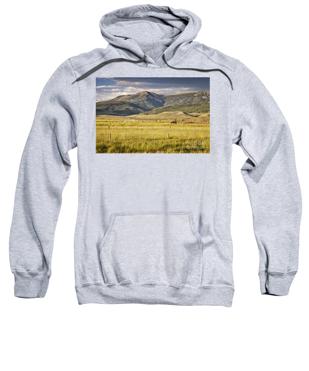 Colorado Sweatshirt featuring the photograph Crested Butte Ranch by Timothy Hacker