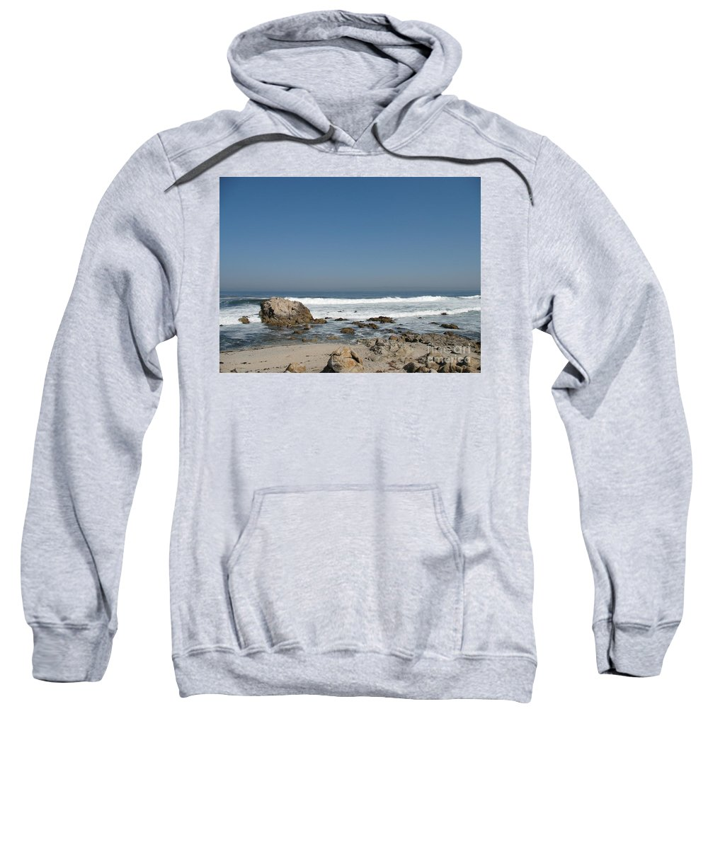 Coast Sweatshirt featuring the photograph Crestwaves On A California Beach by Christiane Schulze Art And Photography