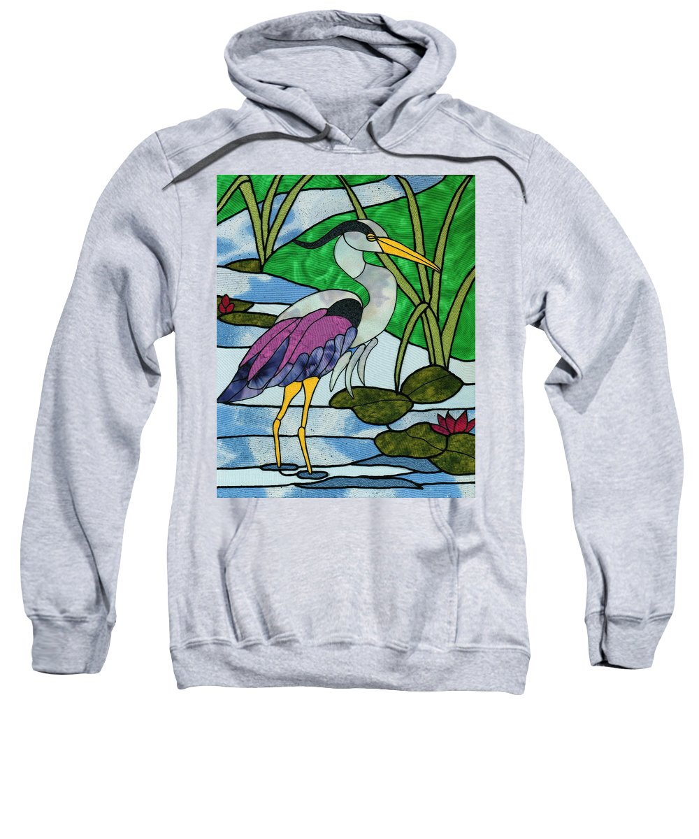 Bird Sweatshirt featuring the mixed media Crooked Creek by Sue Brehm