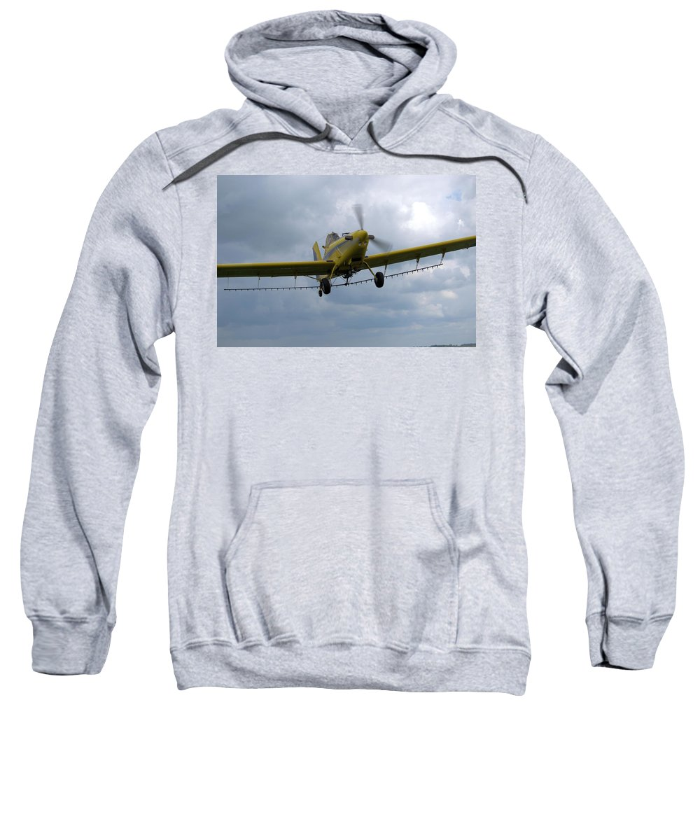 Airplane Sweatshirt featuring the photograph Crop Duster by Bonfire Photography