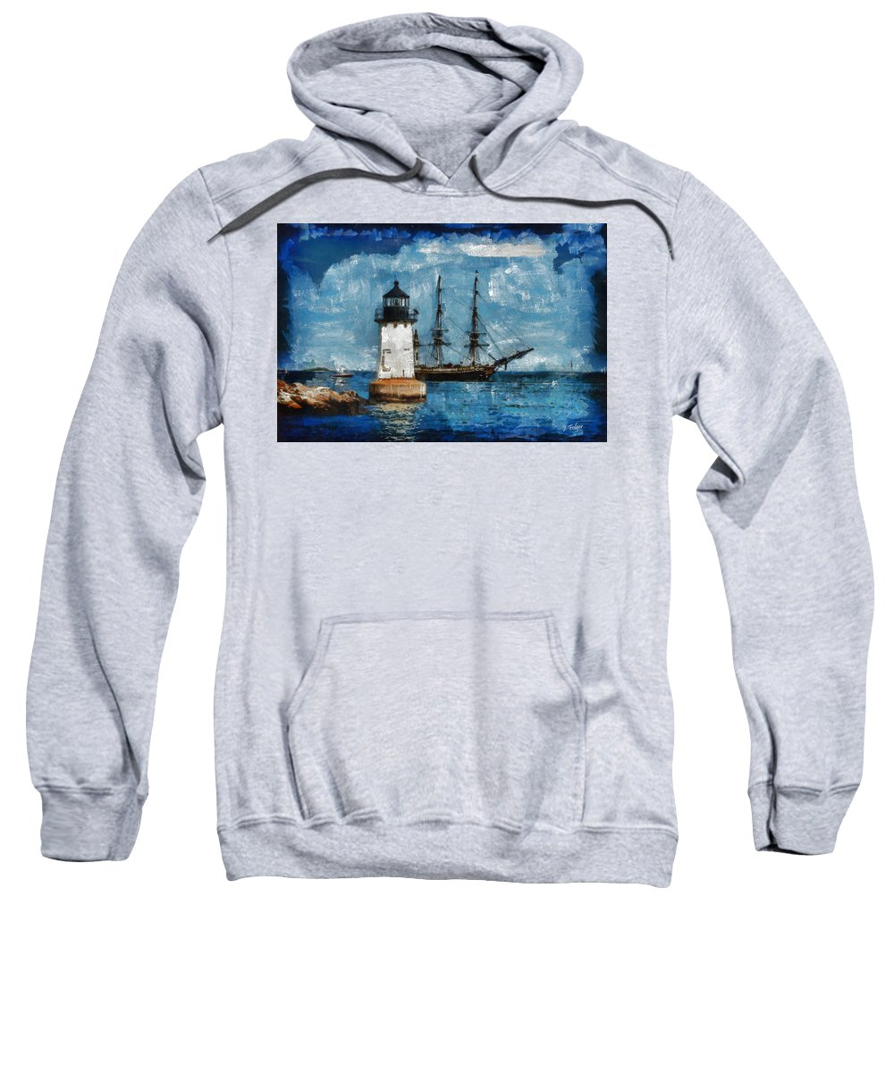 Salem Sweatshirt featuring the photograph Crossing Into The Harbor by Jeff Folger
