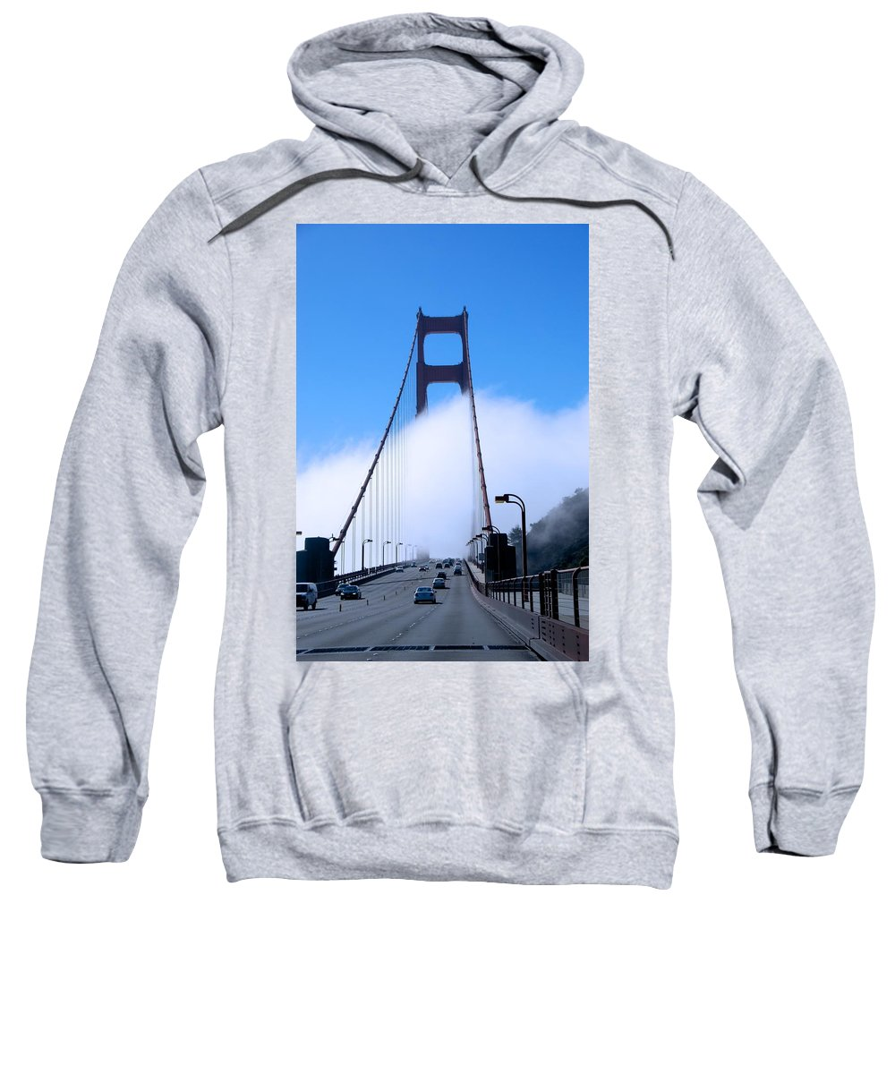 San Francisco Sweatshirt featuring the photograph Crossing The Fog by Eric Tressler