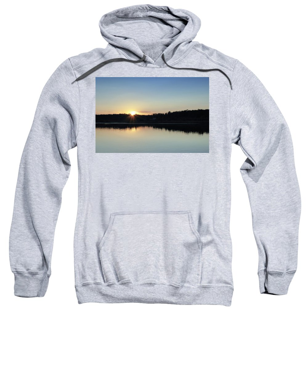 St. Basils Cathedral Sweatshirt featuring the photograph Cruising The Volga River by Linda Dunn