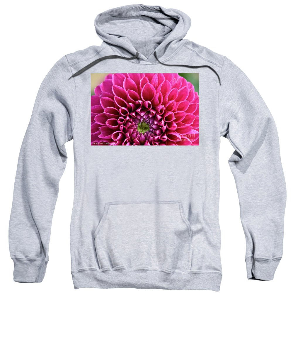 Flower Sweatshirt featuring the photograph Crystal Edges by Susan Herber
