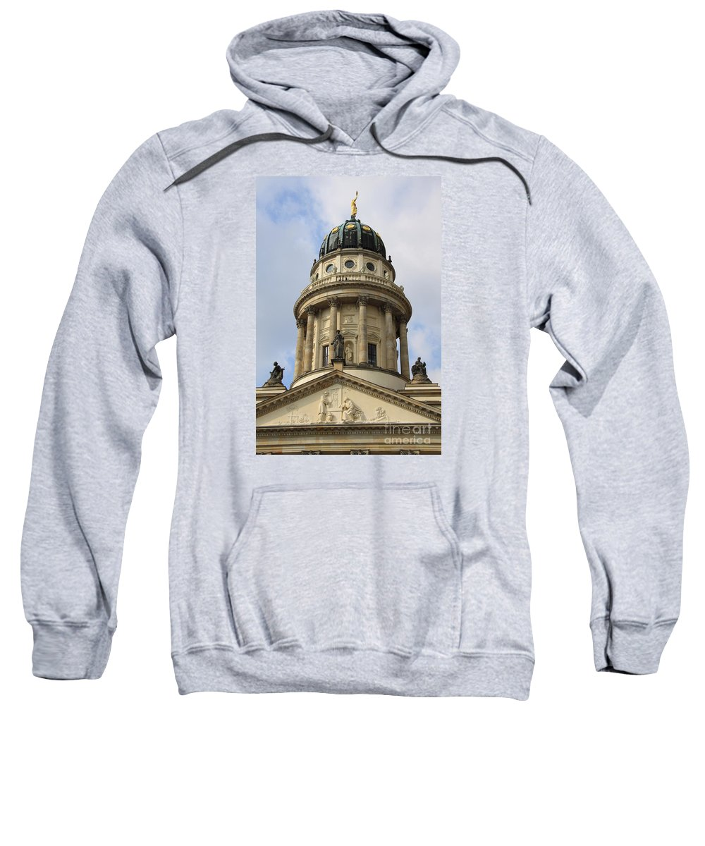 Cupola Sweatshirt featuring the photograph Cupola French Dome - Berlin by Christiane Schulze Art And Photography