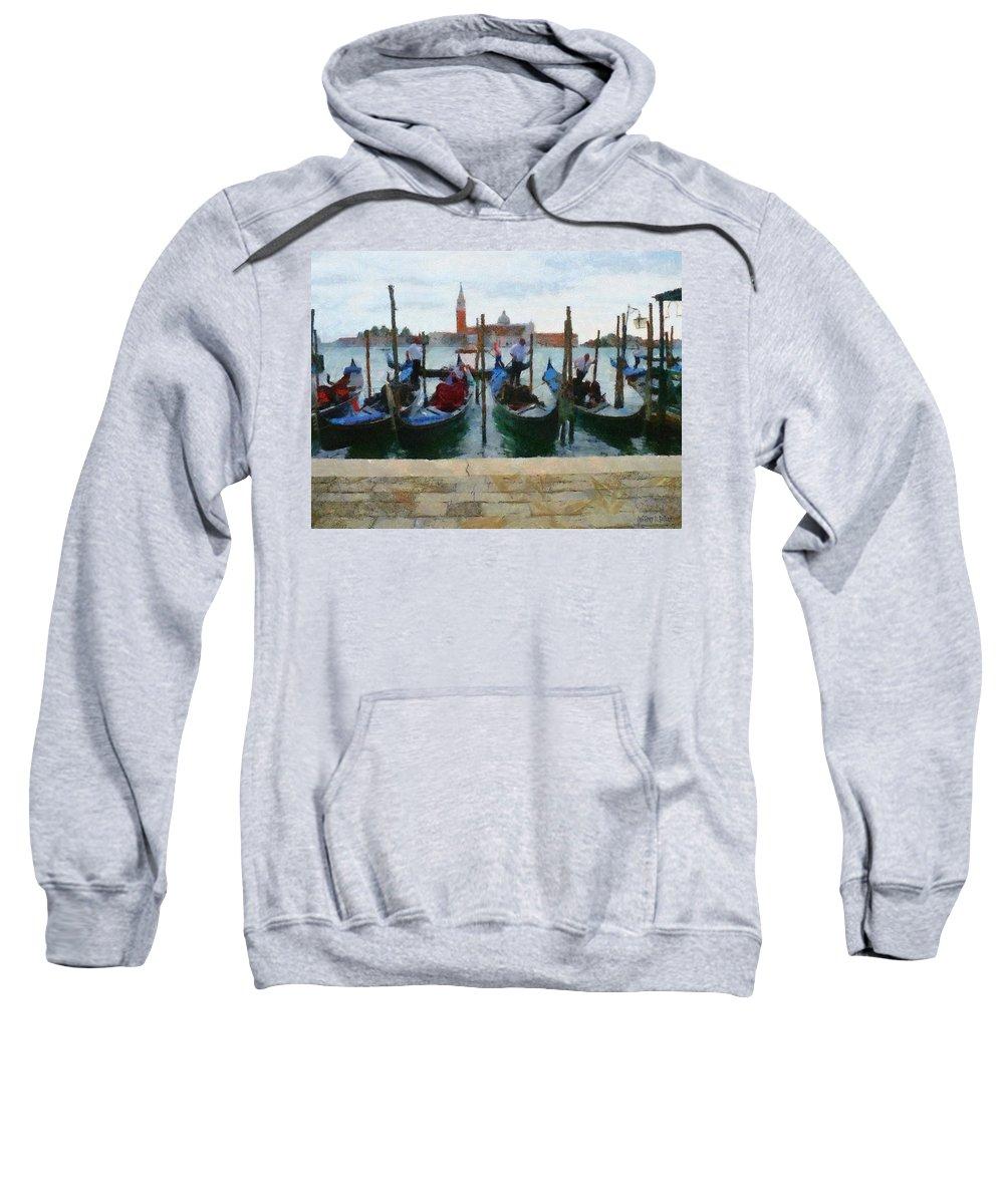 Adriatic Sweatshirt featuring the painting Curbside Parking by Jeffrey Kolker