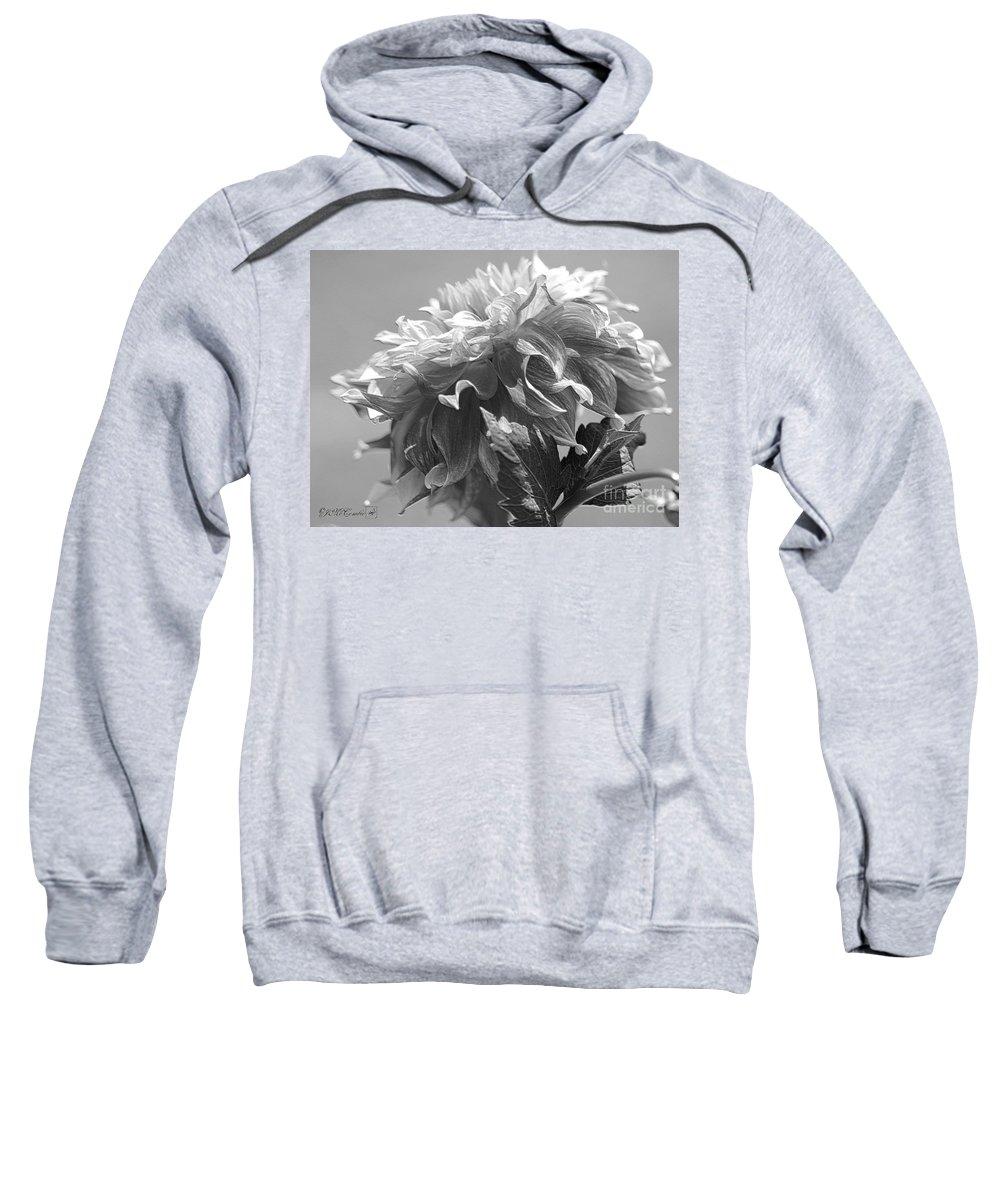 Mccombie Sweatshirt featuring the digital art Dahlia Named Bodacious by J McCombie