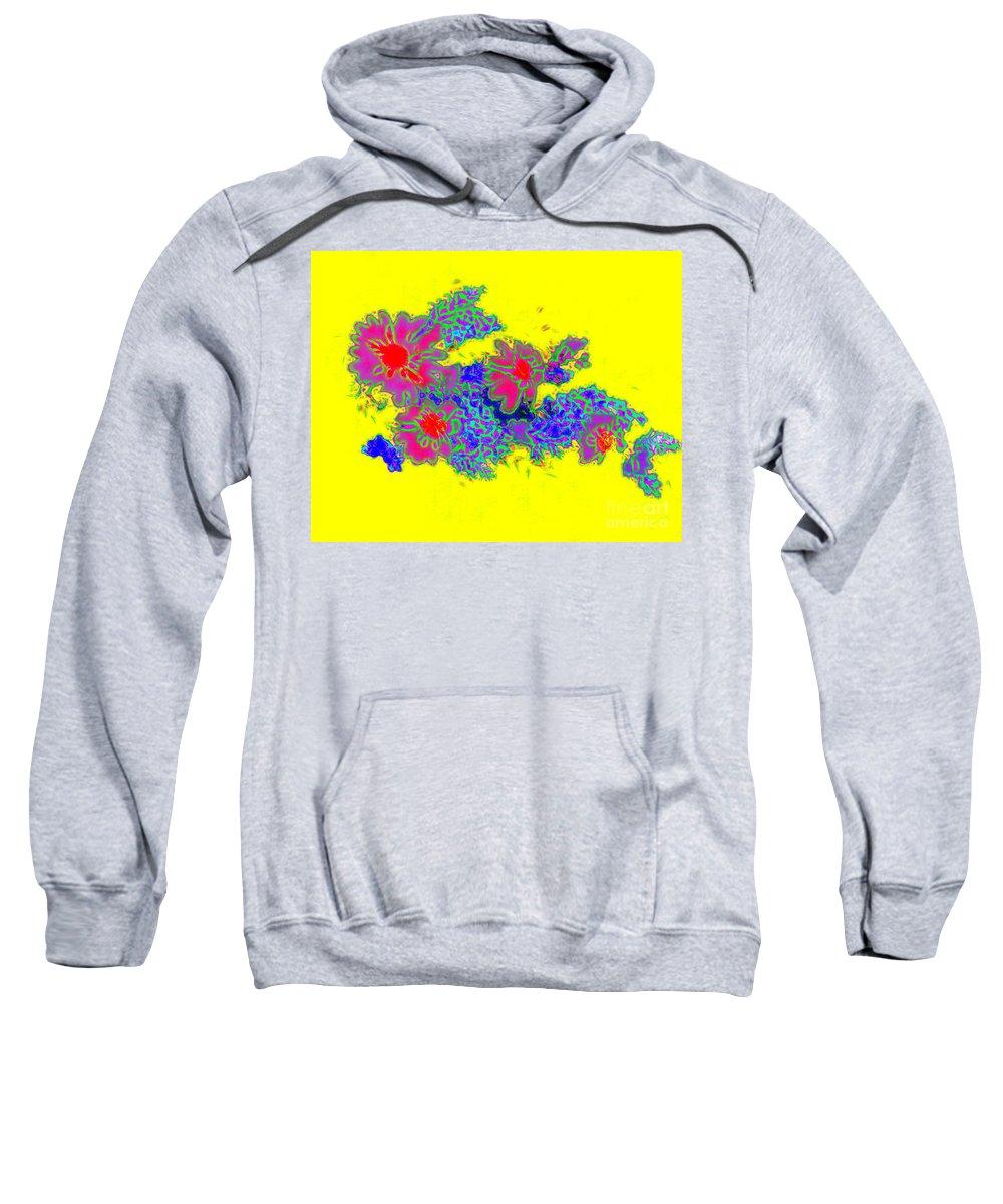 Daisies Pop Art Sweatshirt featuring the digital art Daisies Pop Art by Barbara Griffin