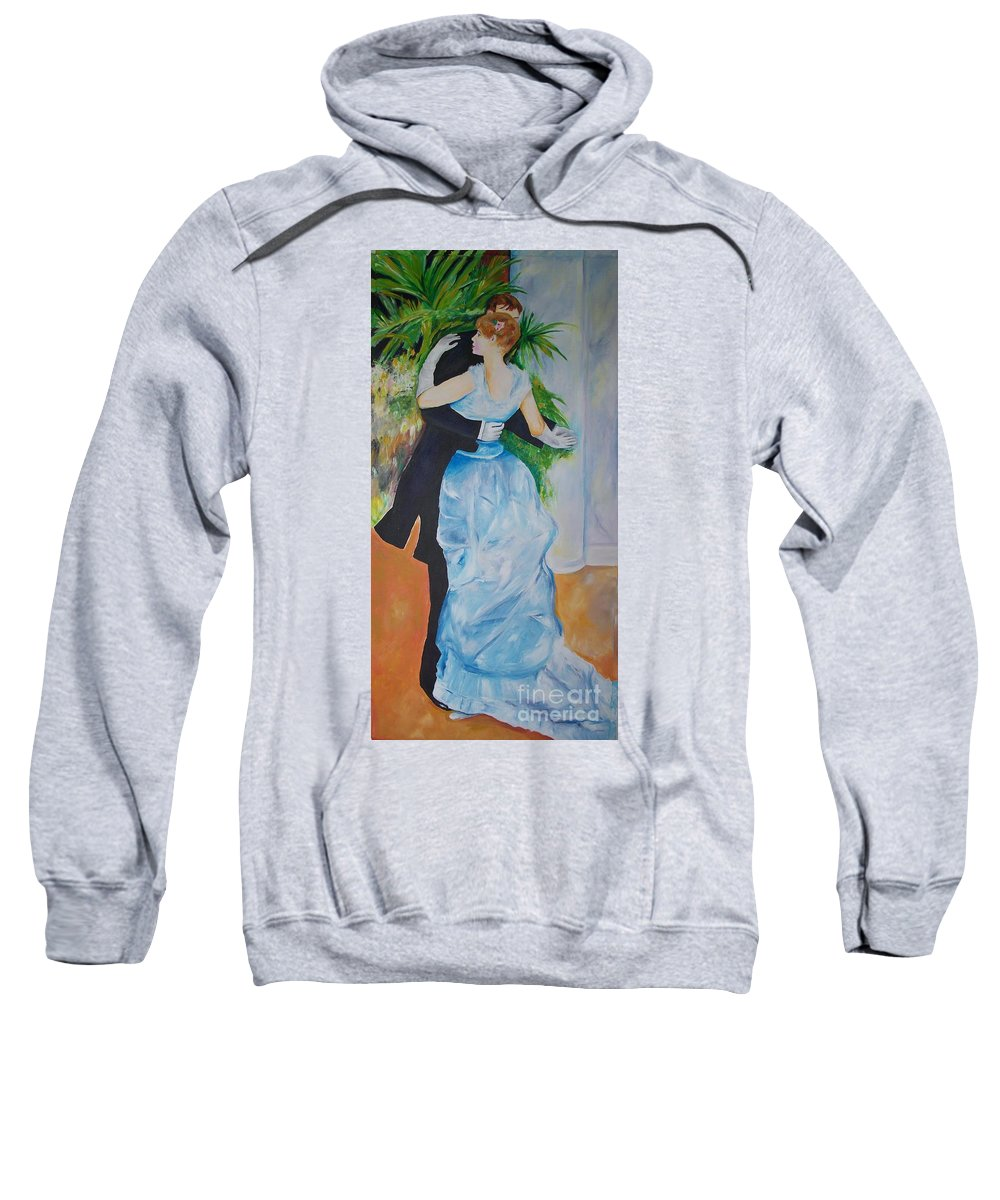 Lavender Sweatshirt featuring the painting Dance In The City by Eric Schiabor
