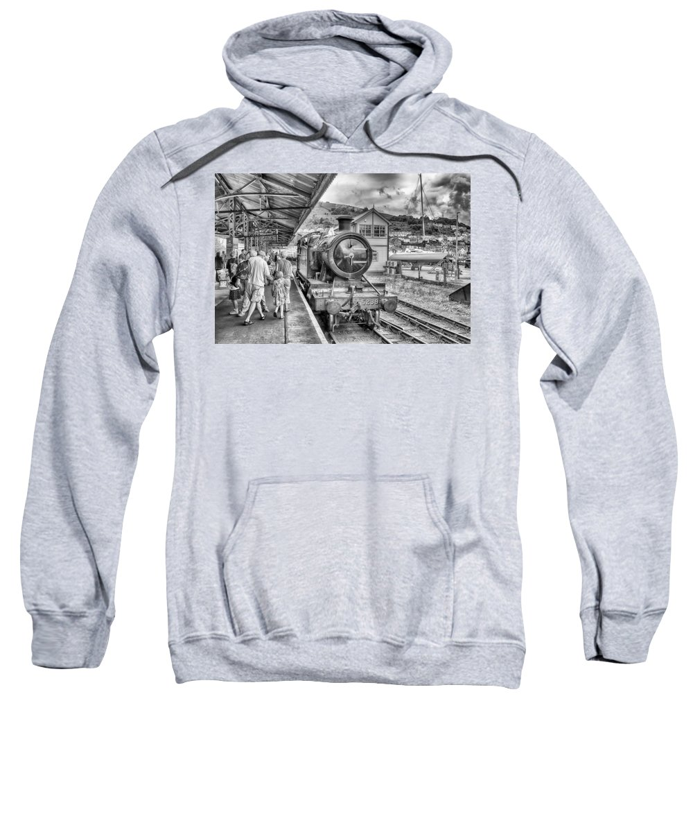 Train Sweatshirt featuring the photograph Dart Valley Railway by Howard Salmon