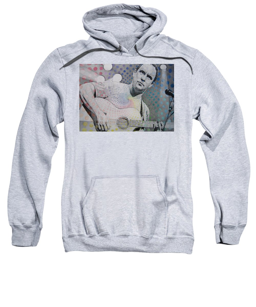 Dave Matthews Sweatshirt featuring the drawing Dave Matthews All The Colors Mix Together by Joshua Morton