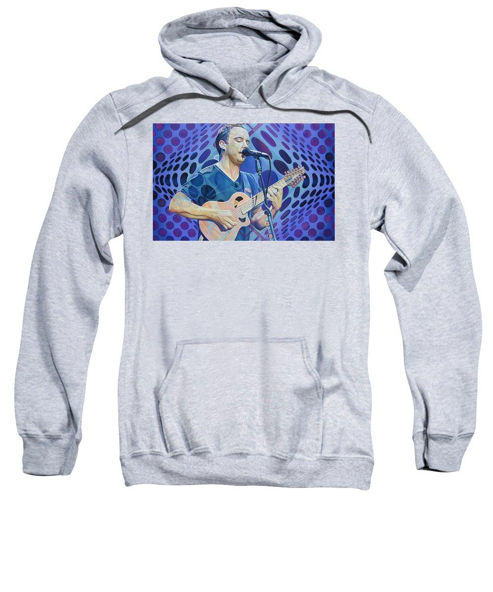 Dave Matthews Sweatshirt featuring the drawing Dave Matthews Pop-op Series by Joshua Morton