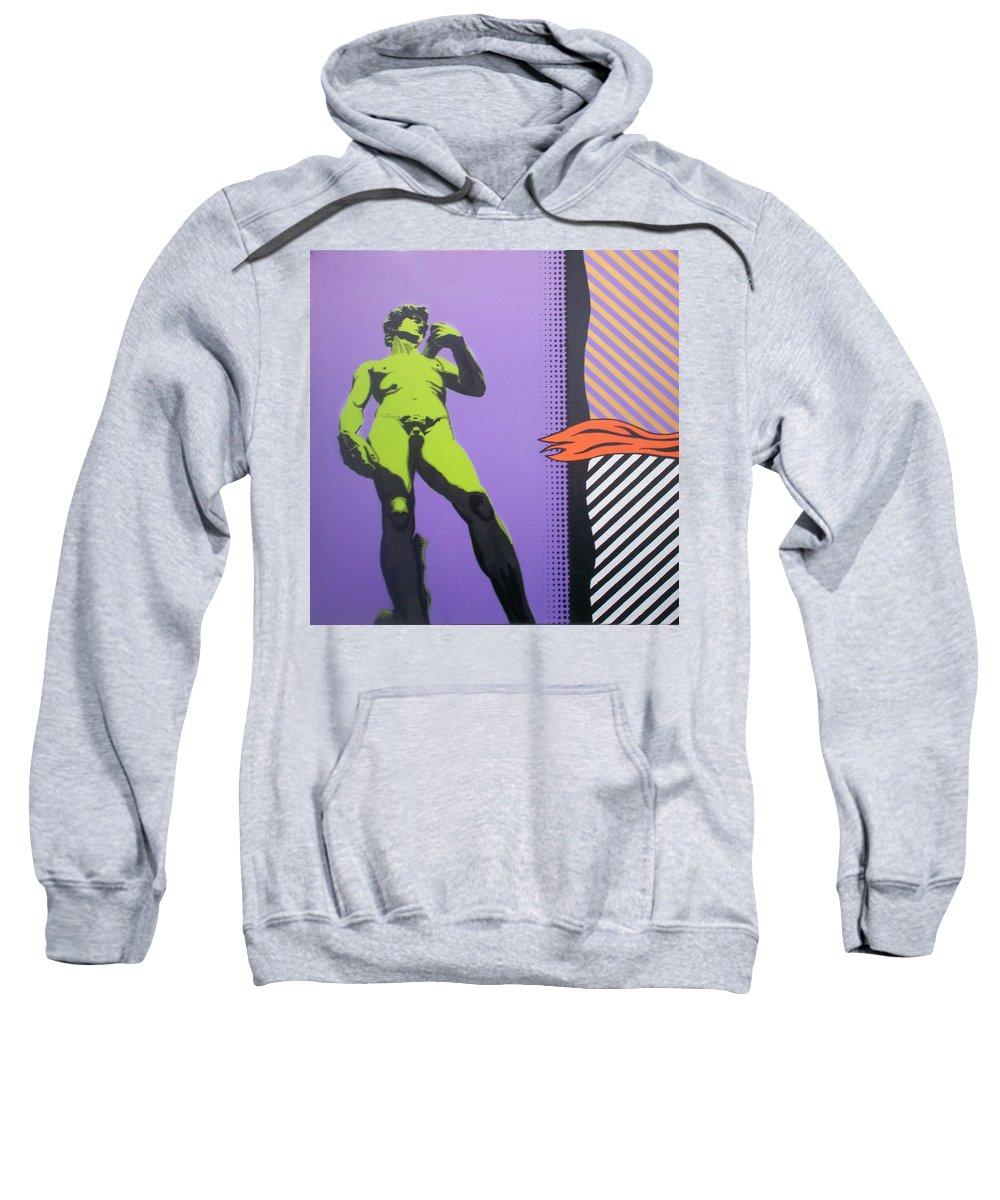 David Sweatshirt featuring the painting David by Gary Hogben